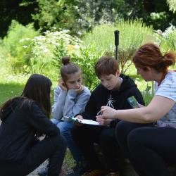 Students in the botanical garden of Bologna University